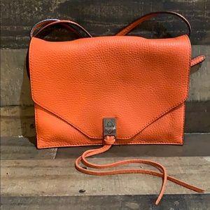 Rebecca Minkoff Orange Leather Crossbody Purse Bag
